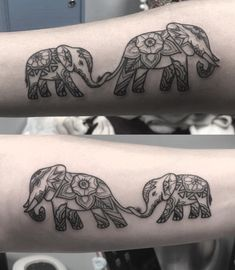 MamasLatinas.com : Elephants know how to love. : 30 Mother-daughter tattoos that celebrate the most special bond of all -- Elephants know how to love, they know how to bond. When a mama elephant has a baby, she takes care of that baby in the most touching ways. She will protect it, guide it, and love on it constantly. Disney Tattoos, Girly Tattoos, Tattoos Bein, Tiny Heart Tattoos, Cute Tattoos, Small Tattoos, Tatoos, Mom Tattoos, Mother Daughter Infinity Tattoos