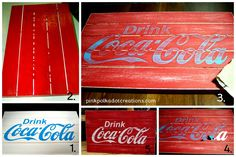 Super Easy Coco-Cola Sign - Pink Polka Dot Creations