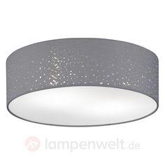 Graue Deckenlampe Thor Mit Textilschirm Kaufen