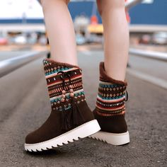 e98f90f89 Lsewilly Snow Boots platform women winter shoes waterproof ankle boots lace  up fur boots brown black short boots big size AA556-in Snow Boots from Shoes  on ...