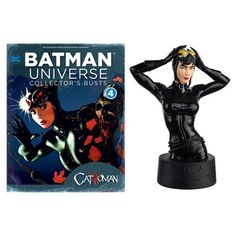 Batman Universe Catwoman Bust with Collector Magazine #5 - Eaglemoss Publications - Batman - Busts - The DC Batman Universe Bust Collection covers over 75 years of Batman comics, TV shows, movies and video games! The Batman Universe Catwoman Bust with Mag #5 measures approximately 5-inches tall, and comes with a 16-page magazine packed with information about the bust, Harley, and over 75 years of DC comic book, TV, video game, and movie history. Ages 14 and up.