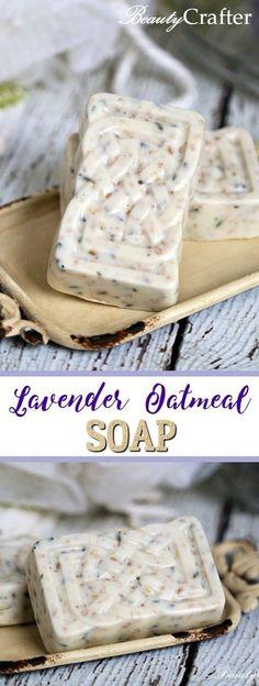 Homemade Lavender Oatmeal Soap Recipe #diycrafts #DIYgift #diychristmasgift #soap
