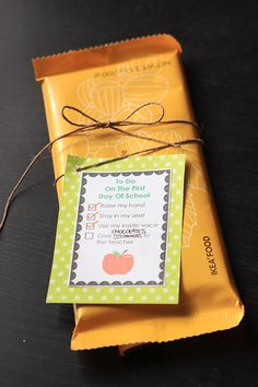 This is really cute-  Back to school gift for teacher-  chocolate