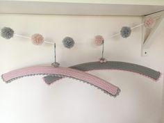 Free pattern: Kate Eastwood's Pretty Crochet Hanger Covers @ LoveCrochet blog