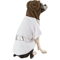 Let your pup's rebel princess side shine with our Princess Leia Dog Costume. Complete with signature hair buns, your puppy will look out of this world.