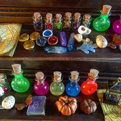 MADE TO ORDER. -ships in roughly two weeks- Description: The Alchemy lab table is hand molded and carved from clay, stained and painted to make it looks as authentic wood-like as possible. A small shelf sits above the lab, just like its in-game counterpart, allowing for potions/bottled ingredients/ or bowls to sit atop its surface. The center glowing potion to this table is a vibrant neon green that has a hint of glow-in-the-dark powder stirred in to help it retain its magical ap...