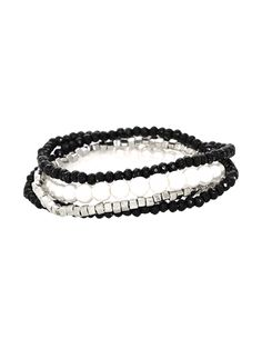 c16c340164f1 Metal Haven by Kendall   Kylie Bead and Pearl Stack Bracelets