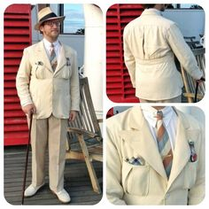 Wearing History:  A 1930's Belted Back Jacket