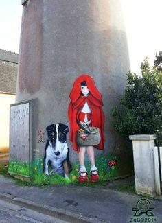 Street art performance by Sìa & Zag | April 4th 2014