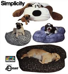 DOG BED Pets Sewing Pattern  Novelty Dogs Cat Pet Couch Chair Furniture Beds - OOP & last one ~ SOLD!
