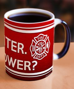 MADE IN USA -Firefighter Superpower Heat-Changing Morphing Mug