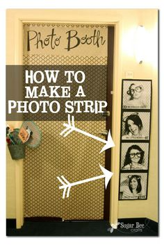"this print is about 4 feet long and it was super cheap! Sugar Bee Crafts: Giant Photo Strip, for cheap, Tutorial. use a photo strip as a decoration in the ""tent"" Bee Crafts, Easy Crafts, Diy And Crafts, Photo Projects, Craft Projects, Craft Ideas, Craft Tutorials, Dorm Door, Do It Yourself Inspiration"