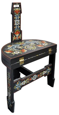 Rosemaling Studies - Gary's Chair (2013)