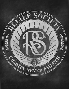 Relief Society Seal on Chalkboard