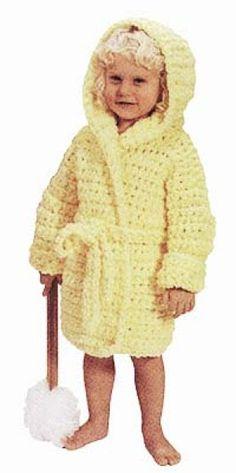 Ravelry: Crochet Child's Bathrobe pattern by Lion Brand Yarn Crochet Lion, Crochet Baby Beanie, Crochet Girls, Crochet For Kids, Knit Crochet, Ravelry Crochet, Crochet Children, Crochet Toddler, Crochet Things