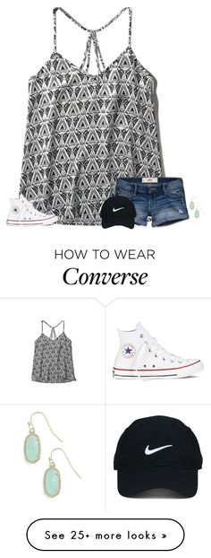 """""""track meet over I pretty much stunk"""" by secfashion13 on Polyvore featuring Abercrombie & Fitch, Hollister Co., Converse, Kendra Scott and Nike Golf"""