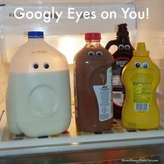April Fools Day Pranks - Googly Eyes in the Fridge! Joke for Kids (this is really easy and fun!)