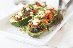 Mediterranean Mushroom-Zucchini Boats [AUGUST FEATURED RECIPE]