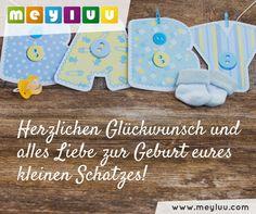 Herzlichen Glückwunsch und alles Liebe zur Geburt eures kleinen Schatzes! - liebevolle Grüße zur Geburt