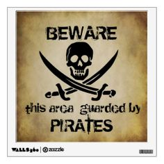 Guarded by Pirates Wall Decal