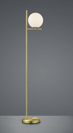 Stojanová lampa PURE BRASS Desk Lamp, Table Lamp, Glass Suppliers, Floor Lamp, Branding Design, Brass, Indoor, Flooring, Pure Products