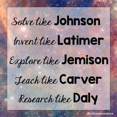 ⁣ ⁣ Which Black scientists, engineers, mathematicians, or inventors would you add to this post? Science Quotes, Happy Black, Black History Month, Scientists, Cannon, Inventions, Mathematicians, Engineers, Canon