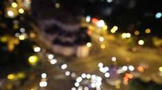City at night background with cars. Out of focus background with blurry unfocused city lights. Ho Chi Minh, Vietnam - HD stock video clip