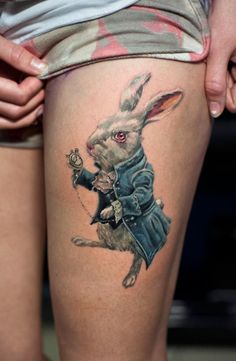 150+ Charming Alice in Wonderland Tattoo Designs nice