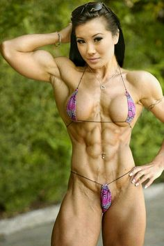 female fitness Naked muscle and