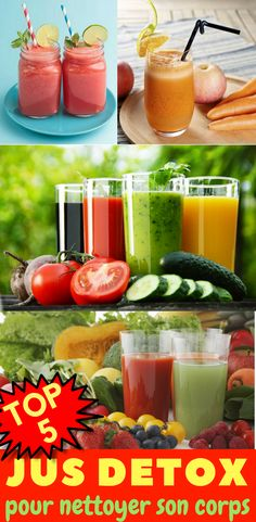 TOP 5 Juice Detox Recipes for Cleansing Her Body - recette jus antioxydant - Healthy Juice Recipes, Healthy Juices, Detox Recipes, Healthy Drinks, Fruit Blender, Juicing With A Blender, Detox Fruits, Slimming Recipes, Batch Cooking