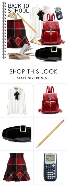 """School Shopping"" by queenofsienna ❤ liked on Polyvore featuring WithChic, Paper Mate and Chicwish"