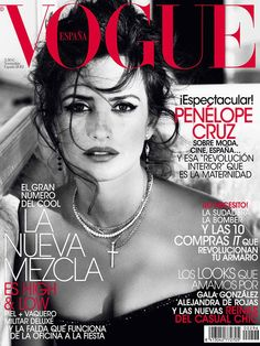 Gorgeous cover of Penelope Cruz for Vogue Spain, November 2012. Photographed by Tom Munro, Penelope wears a dress from Armani Prive's fall 2012 collection.