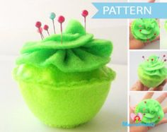 Pincushion Pattern, Felt Pincushion Sewing Pattern ,Cupcake Pincushion Sewing Pattern , Cupcake Pattern Instant Download A802