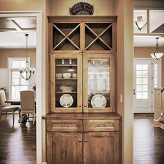 The built-in #Hutch in the #Kitchen of the #Abigail model at 6443 Moline Lane, #Harrisburg in #OldIronEstates