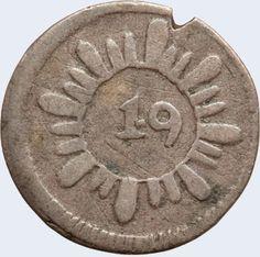 Pieza mpc0.25r-ca02v2 (Anverso). Moneda de la Provincia de Caracas. 1/4 Real. Diseño C, Tipo A. Fecha 1822. Variante #2