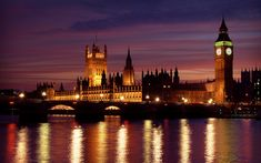 London at night.  I visited here along time ago and it is still so beautiful.