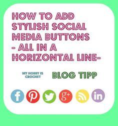 adding follow social media buttons for blogs #blogtip