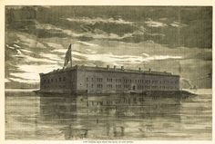 Fort Sumter, Seen From the Rear, at Low Water. New York, January 1861 American Civil War, American History, American Flag, Iris Art, Fort Sumter, Civil War Photos, Thats The Way, Us History, Civilization