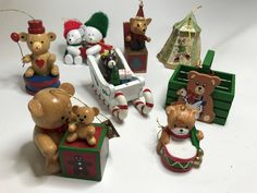 For the teddy bear collector, a lot of 8 ornaments.  https://www.etsy.com/listing/524034716/vintage-lot-of-8-teddy-bear-christmas