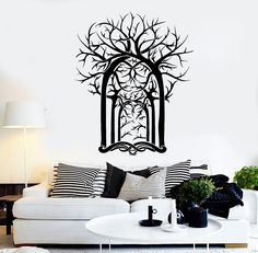 Vinyl Wall Decal Trees Forest House Interior Room Art Stickers (ig4163)