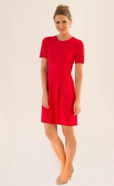 Feen und helden Kleid Mika mit Ballonrock rot Länge nach Wahl | Etsy