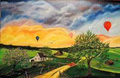 Les Oeuvres, Golf Courses, Painting, Oil On Canvas, Painting Art, Paintings, Painted Canvas, Drawings