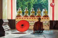 Fotoserie aus Myanmar | DER ROTE SCHIRM | Foto: Mario Weigt | www.asia-stories.com