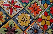 Azulejos Estilo Mexicanos Clay Tiles, Mosaic Tiles, Tile Patterns, Print Patterns, Latino Art, Hand Painted Ceramics, Stone Art, Tile Design, Iphone Wallpaper
