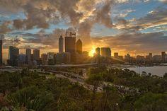 #sunrise behind #Perth CBD #thisisWA Perth_City Western Australia