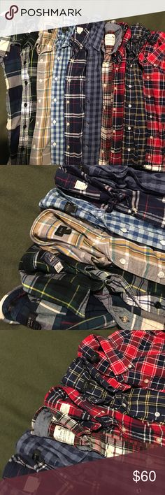 Bundle of JCrew fall/winter Plaid Shirts Get your closet ready for fall!  Or stock up your poshing inventory. JCrew Plaid shirts. Sold as a bundle. Size: small classic fit.  One of them is a medium slim fit.  All in gently worn and in good condition.  Washed, never dried (shrunken). Never starched.  I'm a former JCrew employee with no need for this many shirts anymore.    Will not sell separately. J. Crew Shirts Casual Button Down Shirts