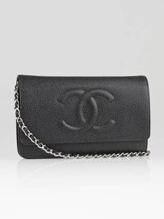 Chanel Black Caviar Leather CC Logo WOC Clutch Bag -- funds to help me save up for this would be clutch