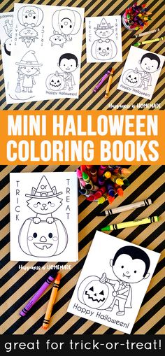 These cute mini Halloween coloring books are the perfect sugar-free treat to…