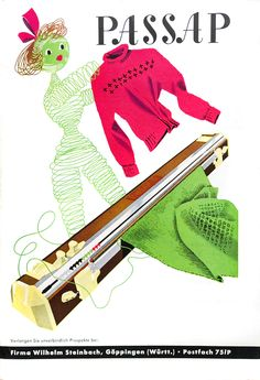 Passap, knitting machine ad Knitting Machine, Vintage Knitting, Fashion History, Pin Up Girls, Funny Images, Knits, Knitwear, Knit Crochet, Crochet Patterns