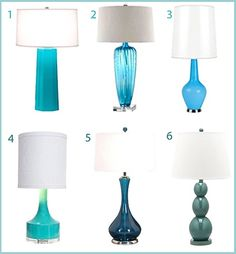 Perfect Turquoise Table Lamps - StyleCarrot